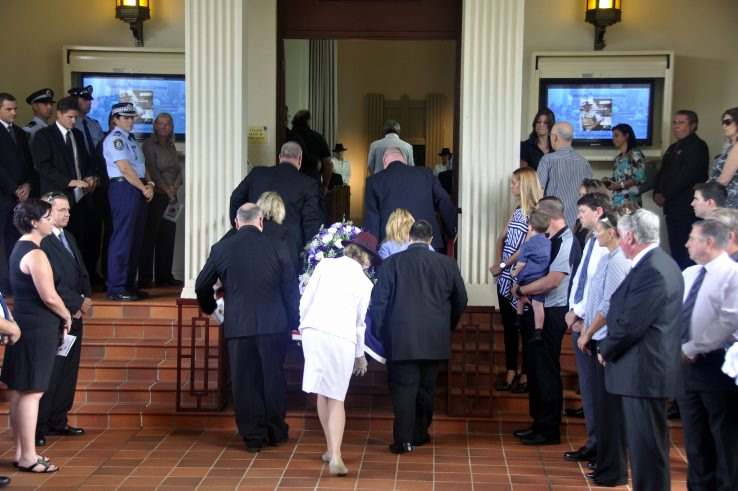 THURSDAY 12 FEBRUARY 2015 FUNERAL SERVICE FOR RETIRED SERGEANT STEPHEN THOMAS CONROY AT THE WORONORA CREMATORIUM, SUTHERLAND. FUNERAL WAS ATTENDED BY 150+ PEOPLE. https://www.australianpolice.com.au/stephen-thomas-conroy/