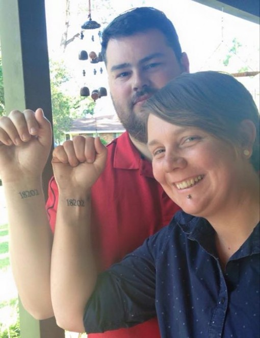 Alana & Peter - in honour of their father - Service number tatts