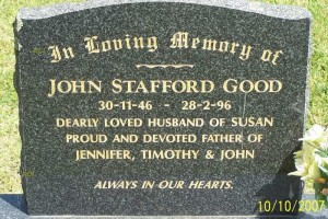 John Stafford GOOD - Grave
