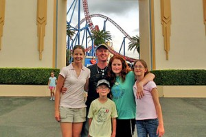 Fond memories ... Brett Wright and Elise Krejci with Brett's three children.