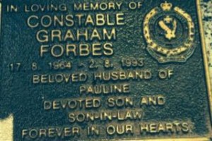 Graham FORBES - grave plaque