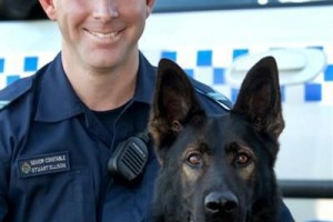 Senior Constable Stuart Ellison & Police Dog EDGE.