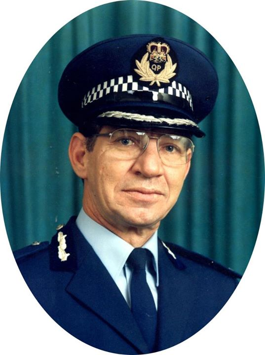 Ron Redmond, Queensland Police Force.Appointed Deputy Commissioner on 02.07.1987, Ronald Joseph Redmond became Acting Commissioner of Police just two months later, replacing Commissioner Terence Lewis. Image PM1180 Courtesy of the Queensland Police Museum.
