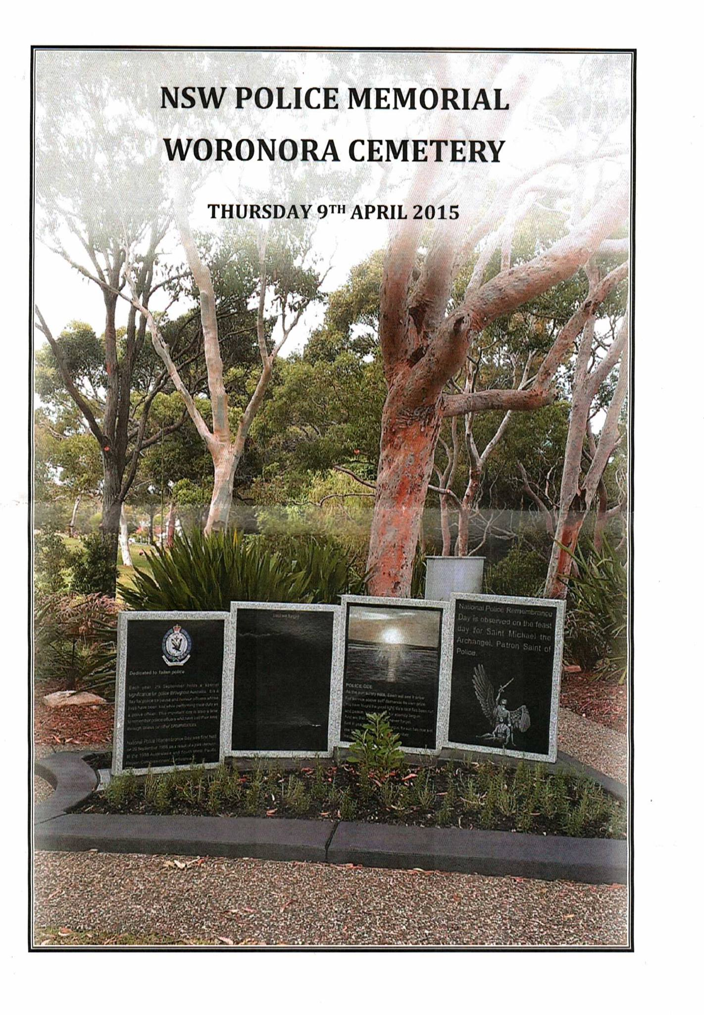 Woronora Cemetery - Wall of Remembrance 9