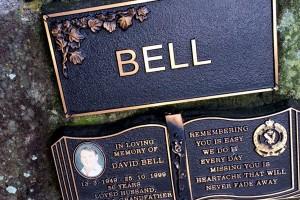 Memorial stone for David Bell
