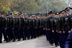 Police officers, family and friends farewelled Currans Hill police officer Constable Christopher Plummer in Camden on Monday. Picture:Jeff de Pasquale