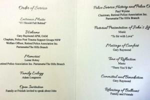 John Felton funeral pamphlet