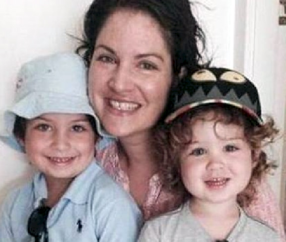 Sergeant Tara McLaughlin with her sons Harry and Flynn. Picture: Facebook