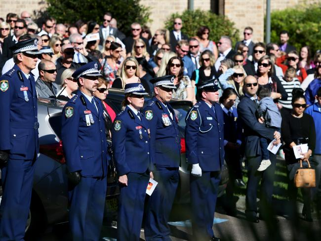 Hundreds attended the service for Sergeant Tara McLaughlin (Tobin). Picture:Peter Clark