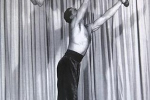 He appeared on television as an acrobat