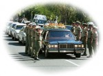 Huitson was honoured with a full police funeral in Darwin. About 30 officers formed a guard of honour while six others carried Huitson's coffin.