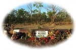 Roadside memorial alongside Stuart Highway where Sgt Huitson was killed
