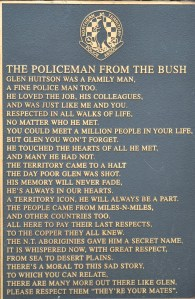 The Policeman from the bush