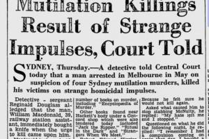 Newspaper coverage of William MacDonald's trial in 1963.