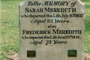 Frederick MEREDITH - Headstone in Liverpool Pioneer Park