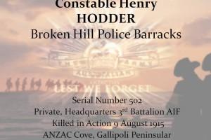 Henry HODDER - R.I.P.