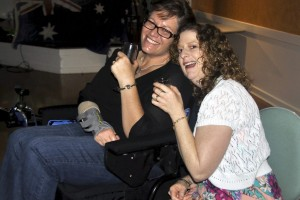 Kylie Hayes with Kerr Neal ( Orgill - Ambos ) at the Triple ) 0 Party - Oct 2014