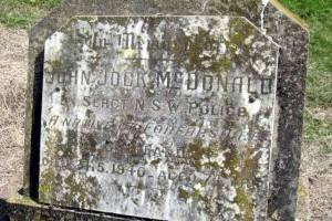 John Jock McDONALD grave