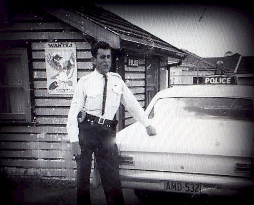 Peter Croucher<br /> The original Cabramatta Police Station in 50s 60s early 70s. It was a call box in it's time with barely enough room for three police. When I was stationed there in 1968, Sgt Bill Turner was the boss, Bill Espie, pictured above, had not long received the Police Medal for Bravery. If we were lucky to have an afternoon shift, the day shift would walk outside to let the others in. If it rained we'd sit on the bench desk with our feet on the chair so's we could keep our feet dry from the rain water running across the floor.<br /> Peter C<br />