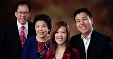 Curtis CHENG with wife and adult children.