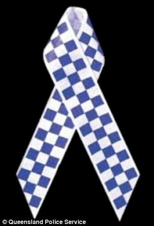 Police officers around Australian and the south Pacific region will wear ribbons (pictured) for National Police Remembrance Day, which commemorates the more than seven hundred officers who have died while on duty