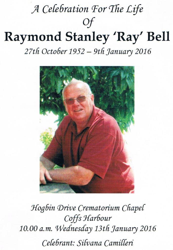 Raymond Stanley BELL - NSWPF - Died 9 Jan 2016