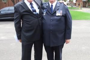 Dick Cordwell with gary Raymond APM OAM