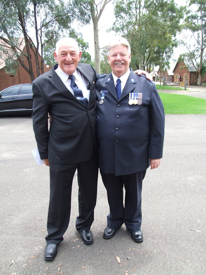 Dick Cordwell with gary Raymond APM OAM