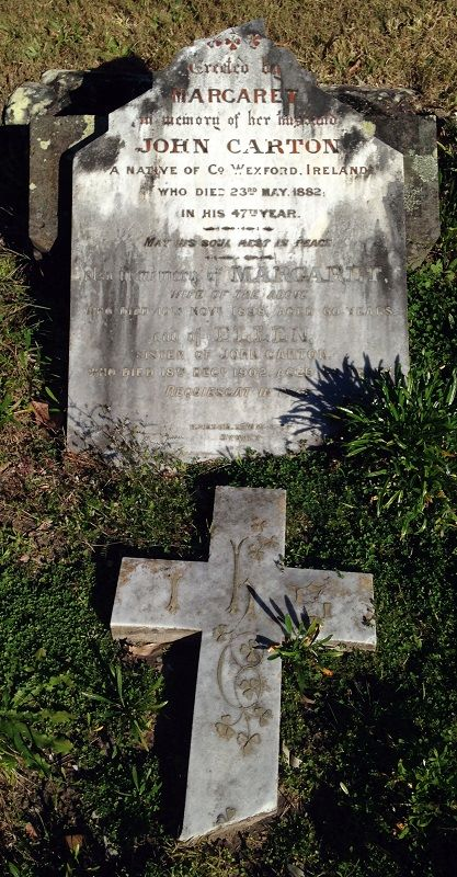 John CARTON - NSWPF - Died 23 May 1882