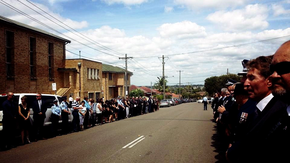 GUARD OF HONOUR FOR THE FUNERAL OF JOHN SATO IN PUNCHBOWL, NSW