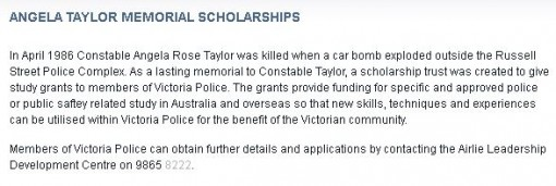 Angela Rose Taylor 29 VICPOL- Murdered - Died 27 Mar 1986
