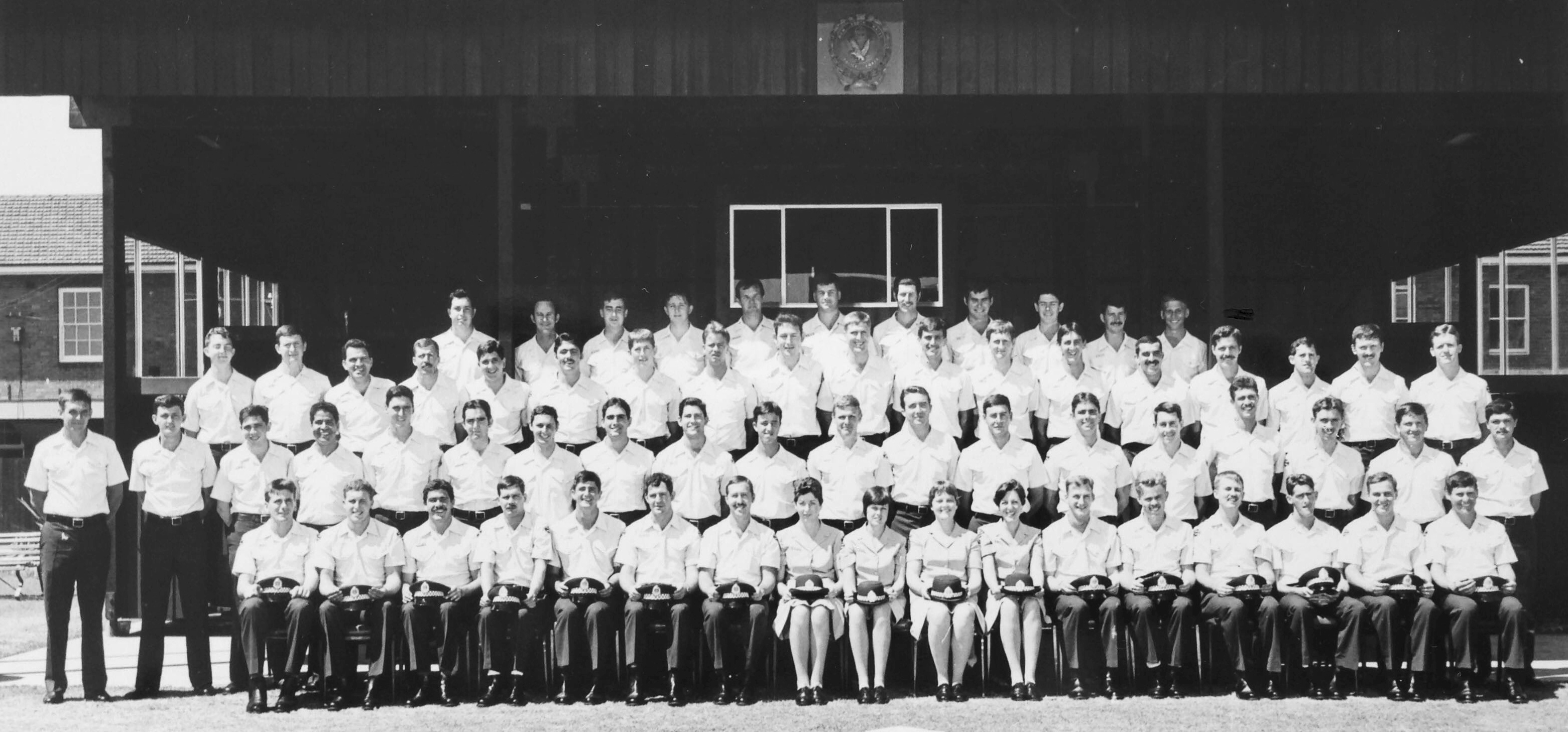Class 157 at Redfern Police Academy.