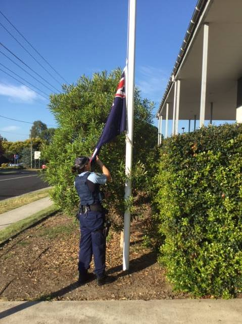 As a sign of respect to our colleague lost overnight in a motor vehicle accident while providing assistance to others, Windsor Police Station is flying the State Flag at half mast. Our colleague leaves behind a wife who is a serving Senior Constable and two young boys aged seven and five months.