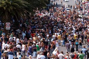 Thousands of people flocked to the area. Picture: Craig Greenhill