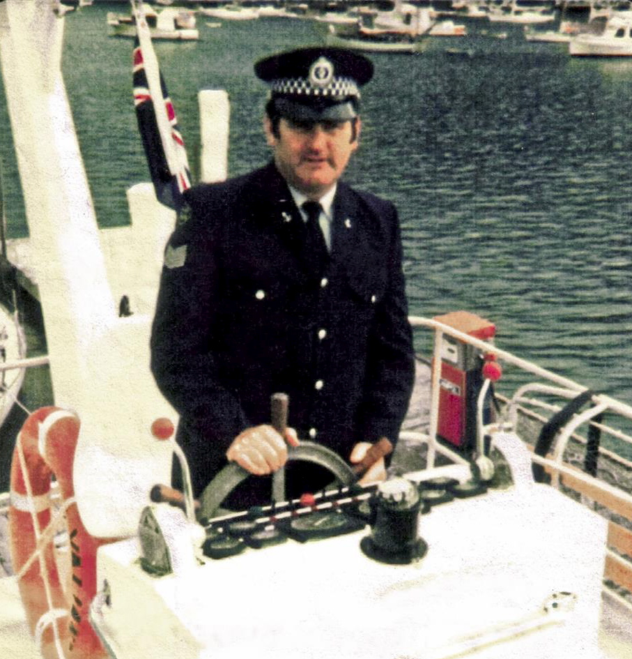 Aboard Police Launch Valiant