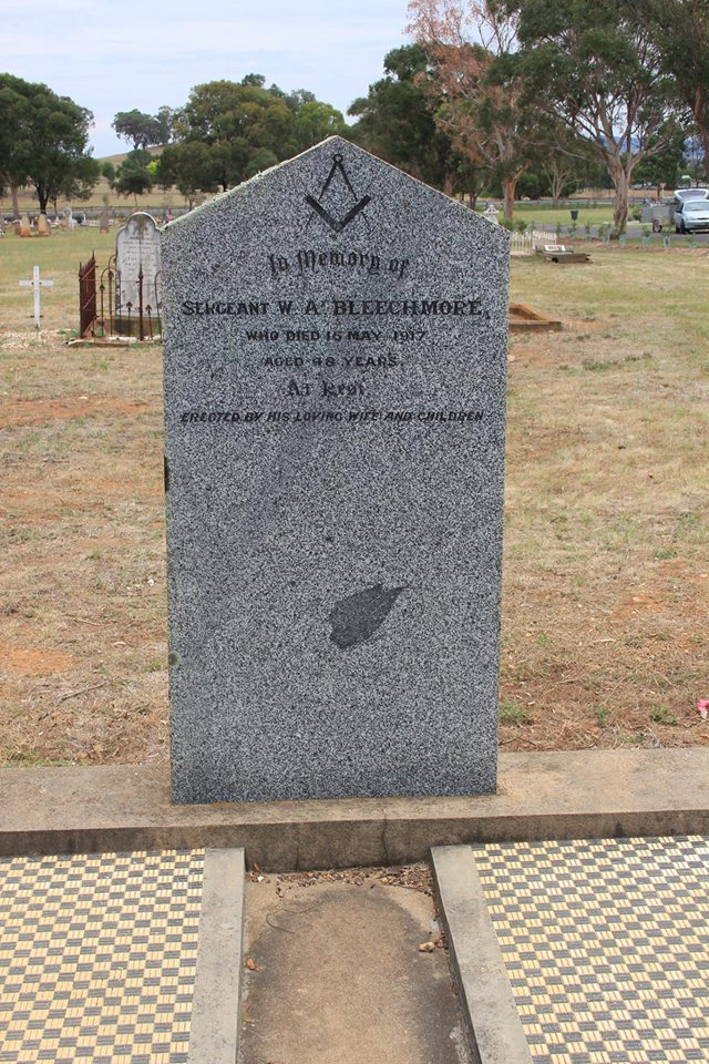 William Albert BLEECHMORE - NSWPF - Died 16 May 1917