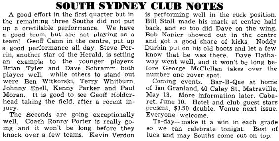 NSW Australian National Football League, Football Record, 22 April 1967 P 3