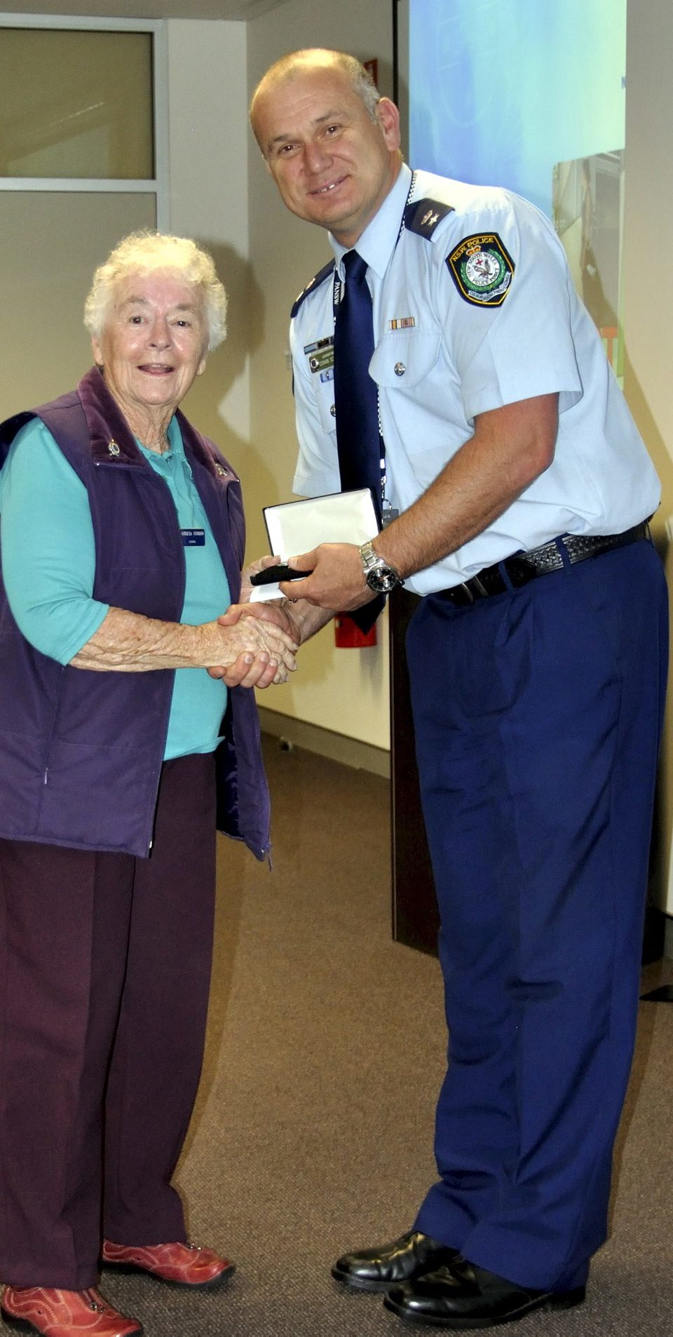 Pat CONDON receiving Gabriel ( Gab ) CONDON's Medal - RIP. https://www.australianpolice.com.au/gabriel-condon/