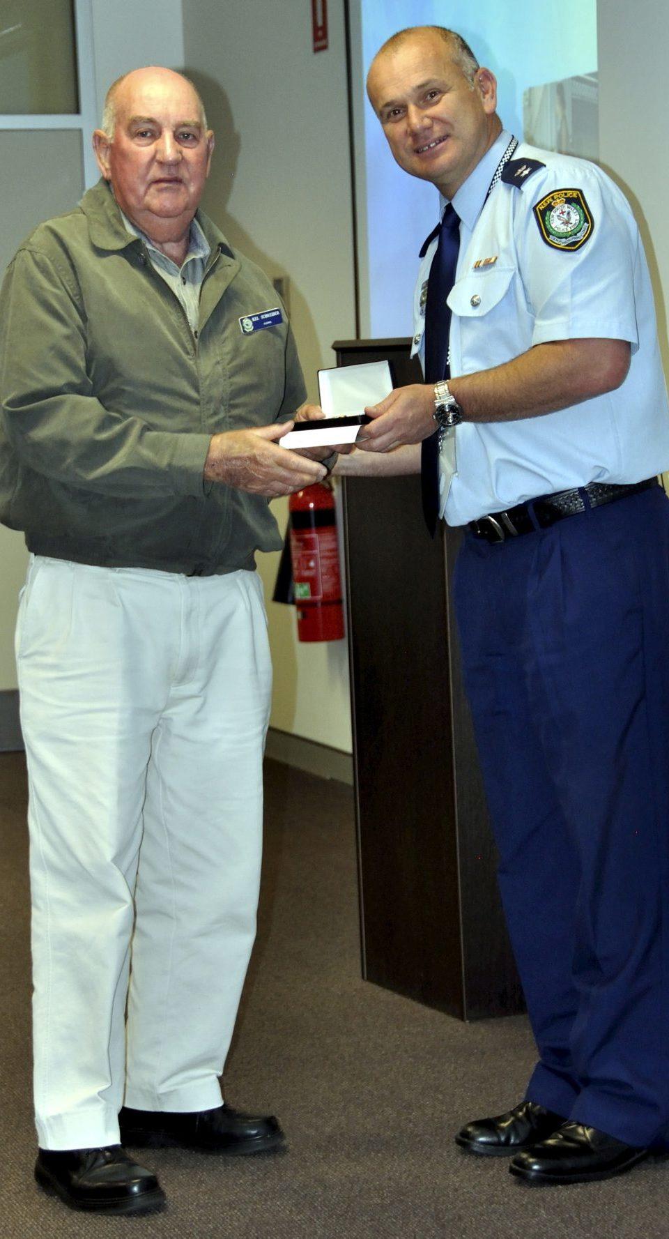 Kelvin ( Kel ) SCHREIBER accepting his Medal.