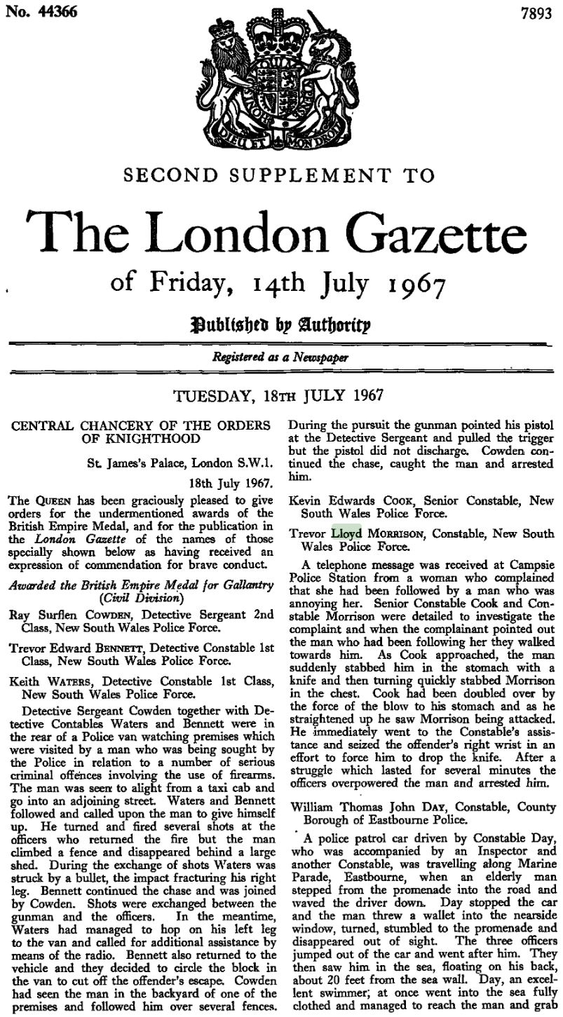 The London Gazette Friday 14 July 1967