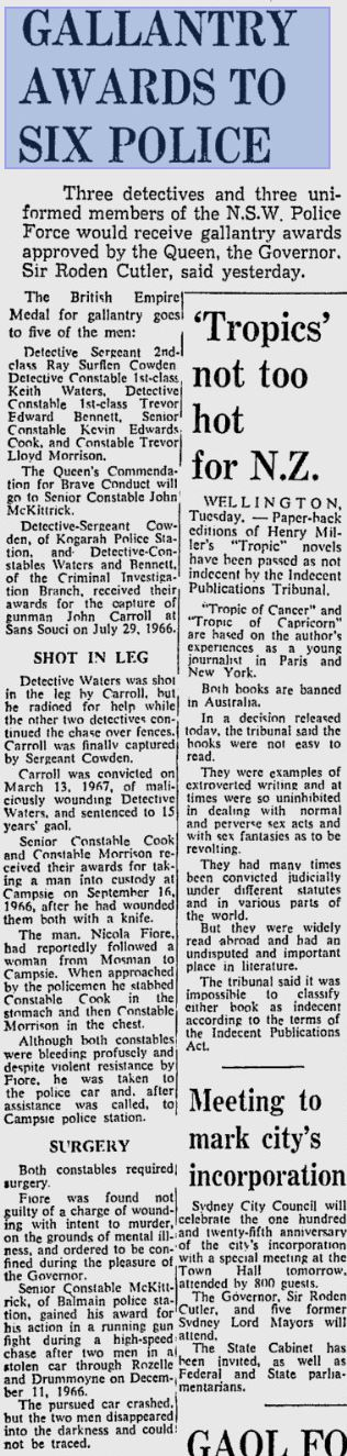 The Sydney Morning Herald 19 July 1967 p 7