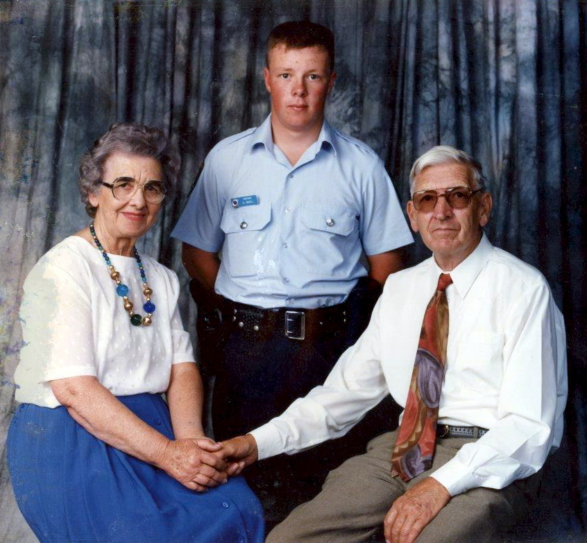 Andrew and his parents as a Probationary Constable.