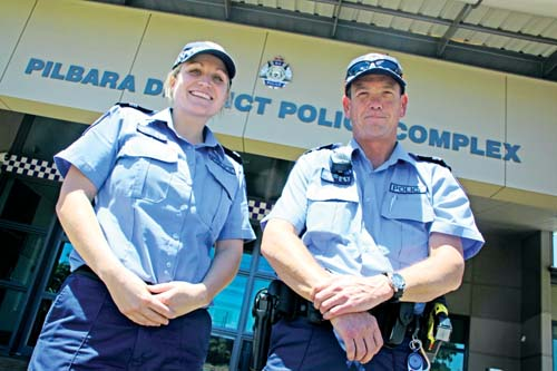 Karratha police constable Jackie Newby and Senior Constable Ian Hollins will be heading off to Perth