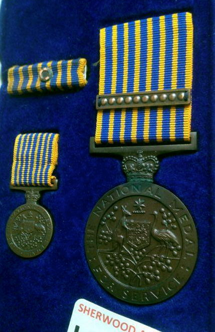 National Medal & 1st Clasp. Clasp missing from miniature