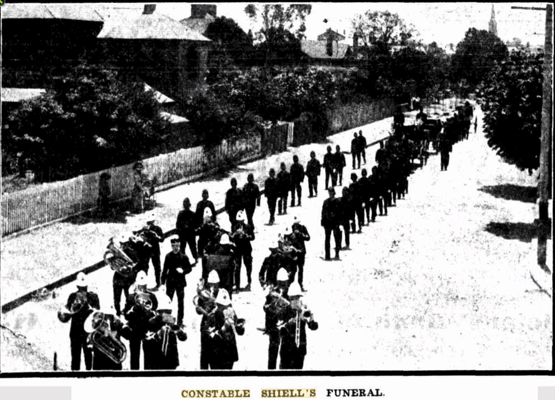 Constable Shiell's funeral