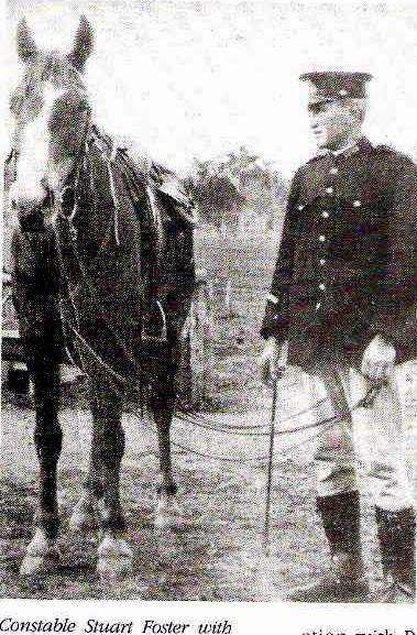 Trolling through public member trees on ancestry, came across the below photo of Sgt Foster with his horse at Webonga NSW. Unfortunately it cuts off what may have been the name of his horse nor does the photo have a date. His wife, Evelyn was a horse breeder and trainer, so this could be one of her horses. In another article dated 1992 Evelyn was visited by Chief Superintendent Moeller and 4 members from Police Legacy at Hillsdale Nursing home. At the time she was at the ripe old age of 103 and was the oldest living member of Police Legacy. The entry does not state what publication the article came from.