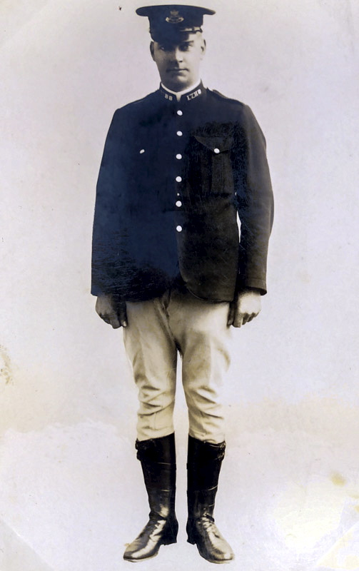W L C ALFORD in his Mounted Police uniform at Taree