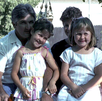 BERNIE 'DEPUTY' DOYLE & HIS WIFE / CHILDREN,<br /> AT BERNIE'S HOUSE - 1984