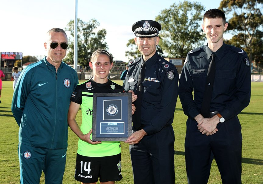Canberra United?Verified account @CanberraUnited 10 Dec 2016<br /> Congratulations @ashsykes91, winner of the Ann Brimblecombe Memorial Medal for Player of the Match!