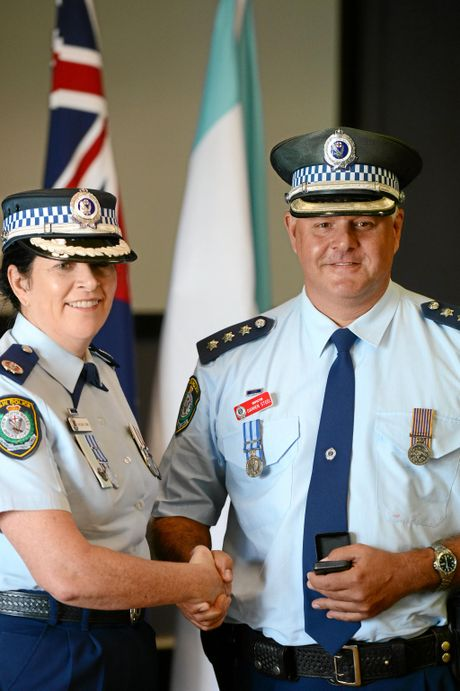 Darren Steel Awarded National Clasp 25, with A/Comm Carlene York